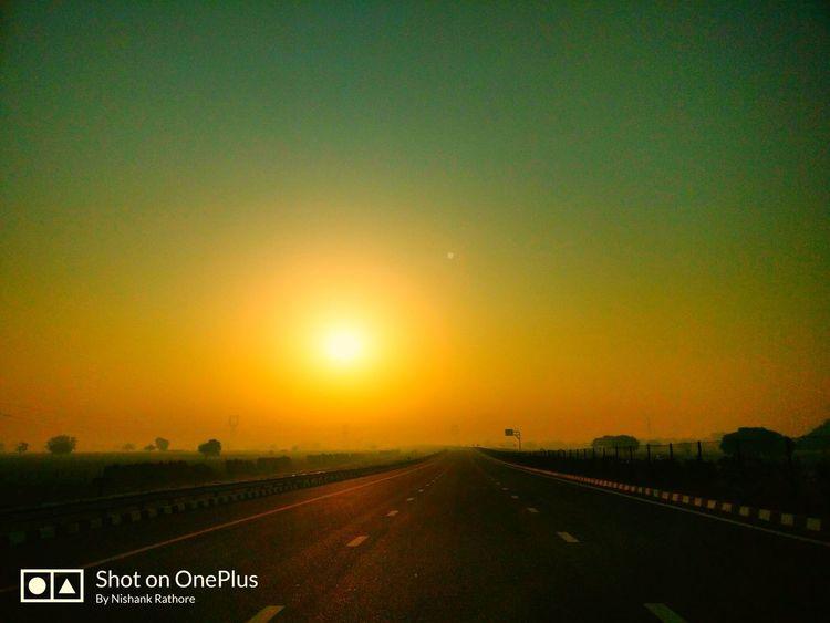 Sunrise The Way Forward Road Sun
