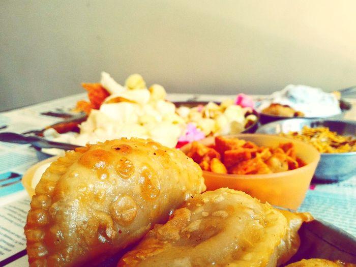 Happy Holi Hindu Festival Indian Food Gunjaya Sweet Dish  Festival Of Colors Festival Foods