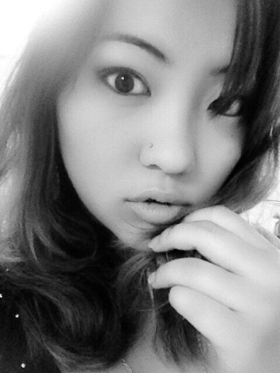 Me Myself Black And White Girl Love Asian  Face The Human Condition Self Portrait Iam