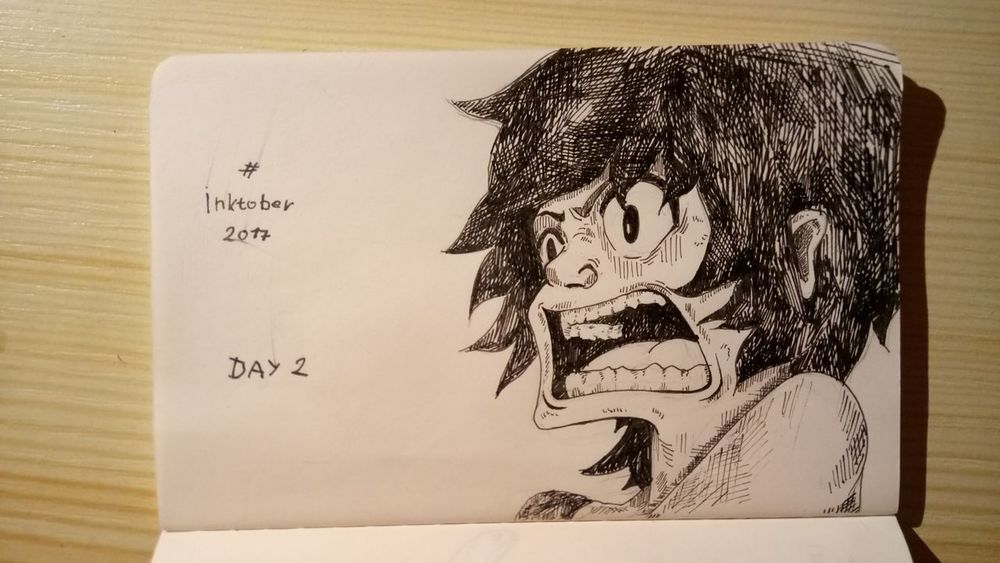 Inktober Inktober Day 2 Illustration Black Color One Person ArtWork People