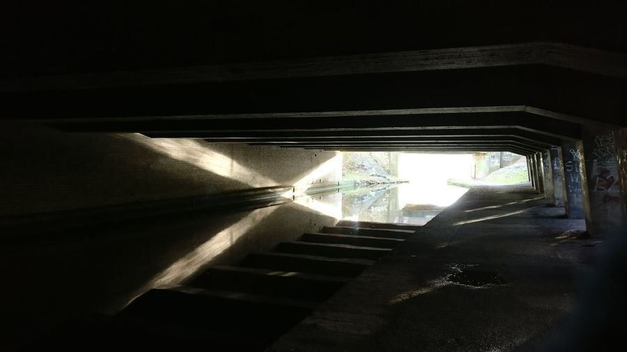 canal tunnel Reflection Canal Tunnel Light Refraction Refractedlight X Window Indoors  No People Shadow Day Close-up