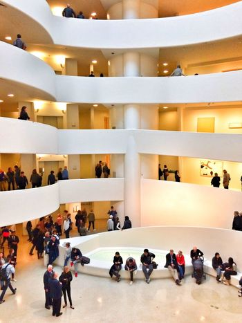 Guggenheim museum, New York City, United States of America. Large Group Of People Real People Business Architecture Indoors  Guggenheim Guggenheimmuseum Guggenheim Nyc Men Leisure Activity Crowd Day People Adult