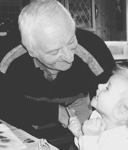 Granddaughter Grandad My World