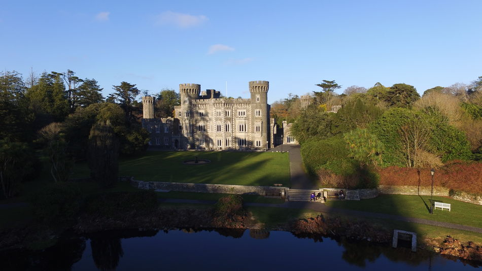 Architecture Water Tree Built Structure Castle Travel Destinations Outdoors Day Sky Wexford Ireland DJI Phantom 3 Professional Dronephotography Johnstowncastle Droneshots Drone Flying Scenics Summer EyeEmNewHere Reflection Building Exterior No People