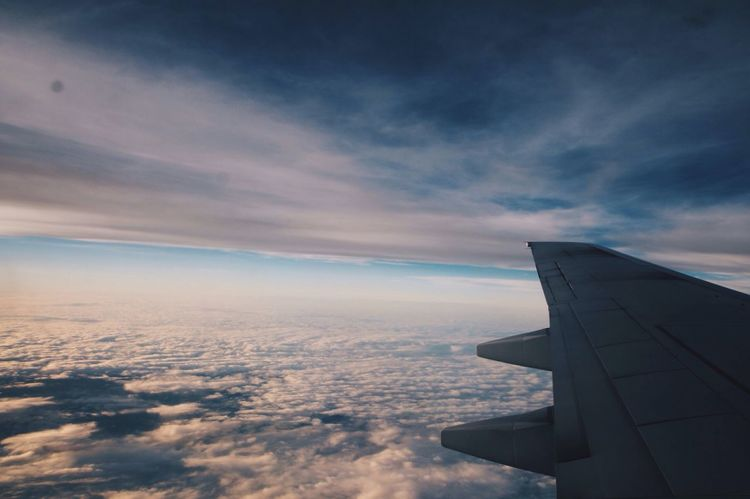 Views from the plane. Travel Plane Flying Journey Clouds Sky Sky And Clouds Air On The Way