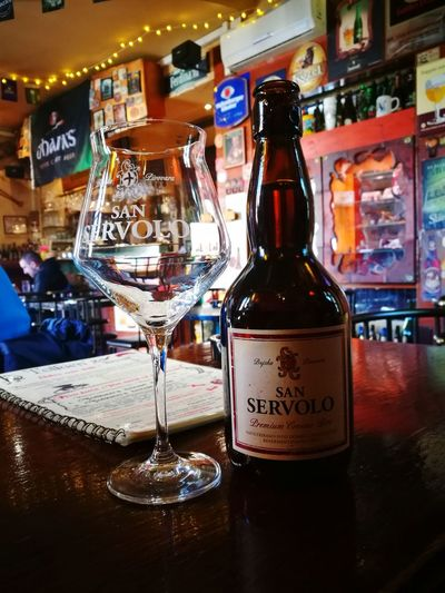 Craftbeer San Servolo Drink Tolkien's House Zagreb Drinking Glass Very Good Beer Buje Zagreb, Croatia