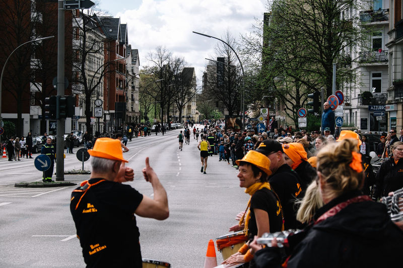 Marathon on city street