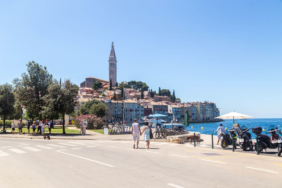 Rovinj waterfront... Blue Skies Croatia Croatian Coastal Town Croatian Coast Holiday Holidays Rovinj Rovinj Croatia Summertime Tourist Tourists Architecture Blue Sky City Croatian Town Crowd Real People Sky Steeple Summer Tourism Travel Travel Destinations Vaction Visit Croatia