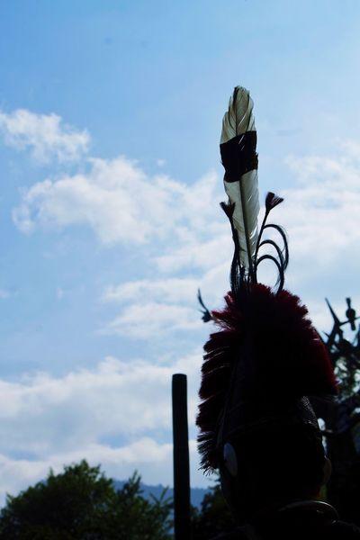 Hornbill Hornbillfestival Tribals Tribe International Festival Nâgas Rich Culture Nagaland 2015  Festival Feathers Blue Blue Sky Colourful
