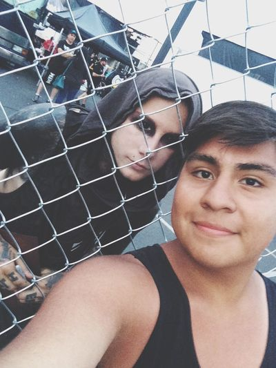 Josh Balz of Motionless in White and I. Warped Tour - Camden, NJ WarpedTour14 Warped Tour  JoshBalz Motionless In White