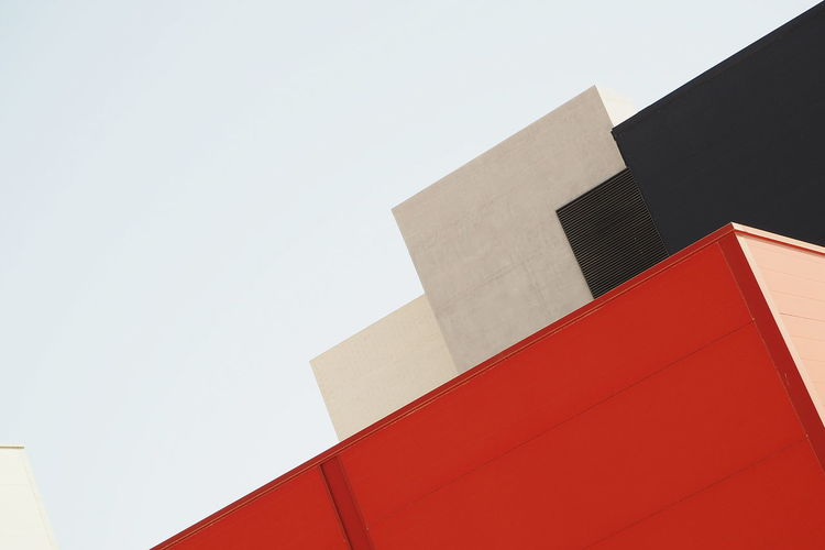 Colors The Week On EyeEm Abstract Architecture Building Exterior Built Structure Clear Sky Low Angle View Minimalism Modern