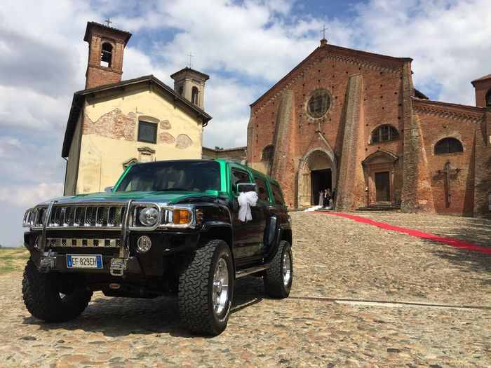 Customised Green Hummer Architecture Blackandwhite Building Exterior Built Structure Cloud - Sky Day History No People Outdoors Sky Specialcar Transportation