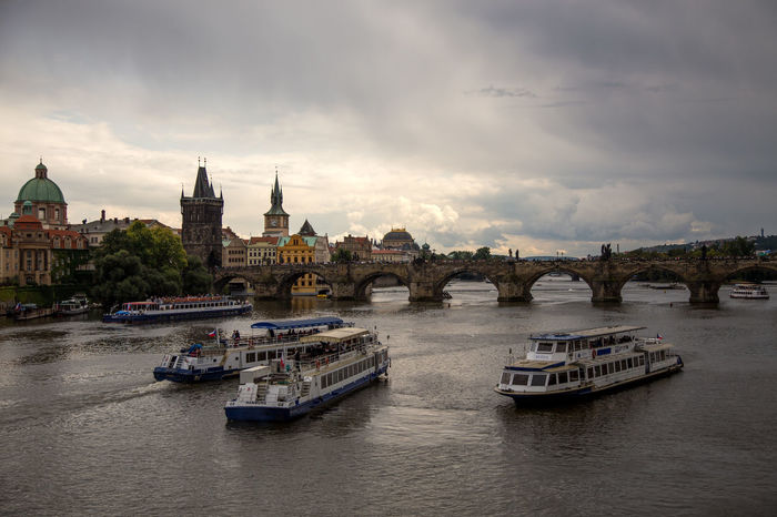 Architecture Building Exterior Built Structure City City Cloud - Sky Czechoslovakia Day Dome Ferry Mode Of Transport Nature Nautical Vessel No People Outdoors Place Of Worship Prague Religion River Sky Transportation Tschechien Tschechischen Republik Water Waterfront