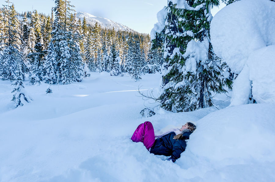 Beauty In Nature Cold Temperature Day Landscape Leisure Activity Nature One Person Outdoors People Snow Tree Warm Clothing Winter