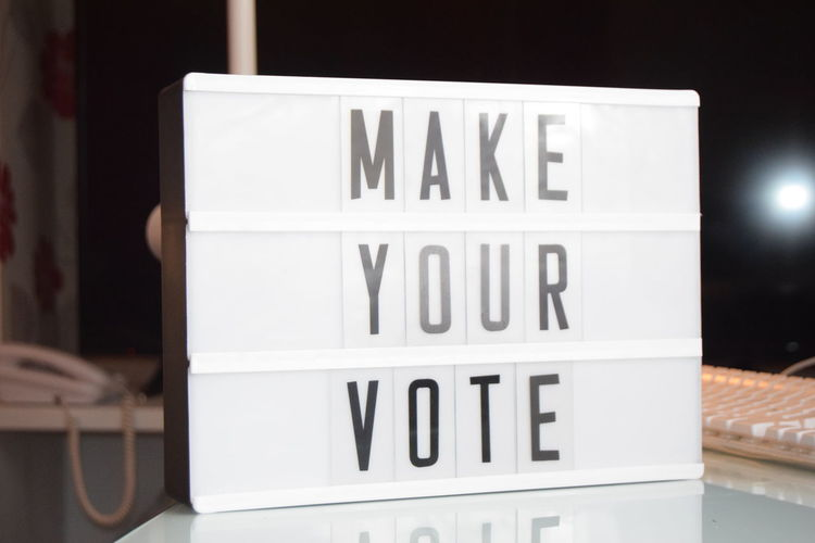 Close-up Communication Day Magazine Make Your Vote Message Board No People Outdoors Text Trend