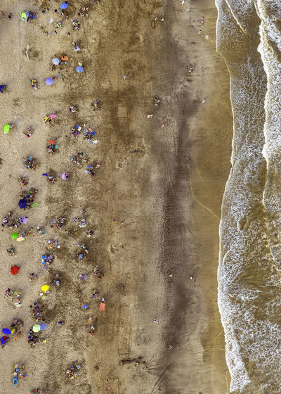 Beach Water Rock Multi Colored Nature Full Frame Close-up High Angle View Beach Pattern Day Solid Backgrounds Wet Outdoors Land Beauty In Nature Architecture Flowing Drone  Dronephotography Argentina Villa Gesell