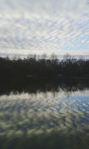 Water Reflection Lake Sky Scenics Outdoors Mirror Image As Above So Below Chemtrails Whatthefuckaretheyspraying GeoEngineering Chemical Sky