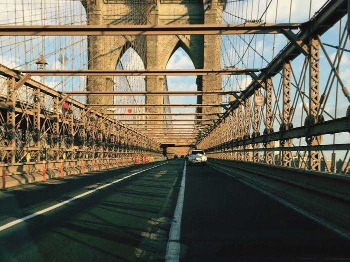 Car On Brooklyn Bridge