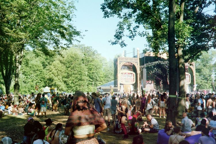 Stage in the Forest Camping Dj Film Kodak Michigan Music No Filter Yashica Art Edm Electric Forest Festival Film Photography Forest Free Spirit Kodak Portra Music Festival Summer Vibes