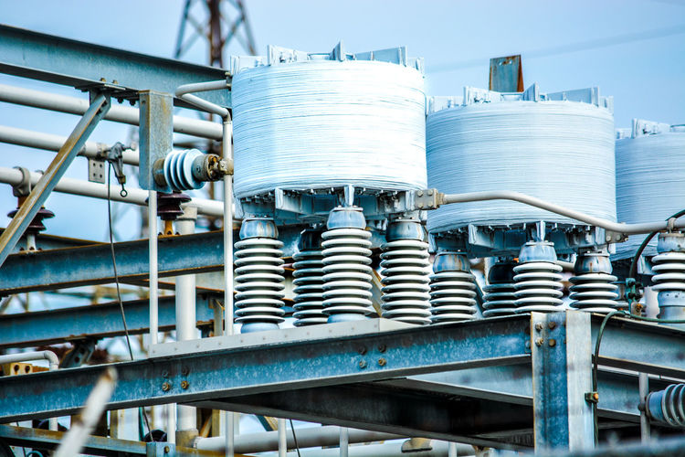 Electricity Electric Electric Transformers Electric Wire High Voltage Industrial Industry Power Electric Lines Electrical Electrical Equipment Electricity  Electricity Pylon Electricity Tower High Angle View High Voltage Tower Power Supply
