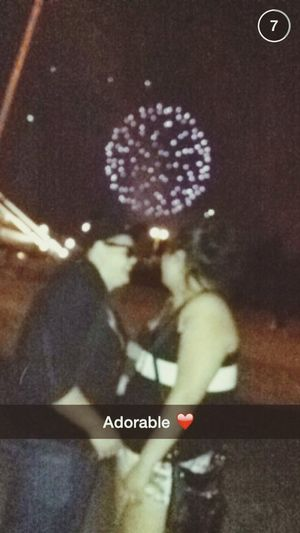 Kiss under the fireworks Fireworks Latepost Cute Cute Couples OpenEdit MyLove❤ Lesbians <3 Hanging Out