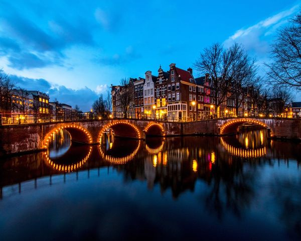 Amsterdam bridges at blue hour Amsterdam Reflection Architecture Sky Water City Travel Destinations Architecture Traveling EyeEm Travel Photooftheday Shootermag Travel Photography Blue Hour Long Exposure Holland Netherlands Justgoshoot Eyeemphotography AMPt_community EyeEm Gallery EyeEm Best Shots EyeEm Best Edits Eye4photography
