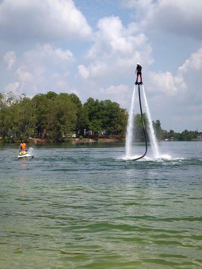 Man flyboarding