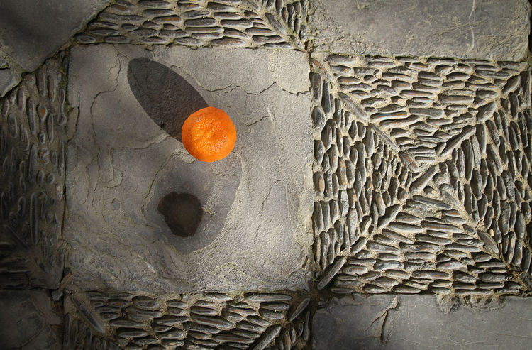 Brick Wall Close-up Day Geometric Shapes Light And Shadow No People Orange Color Orange Fruit Outdoors Square Stone