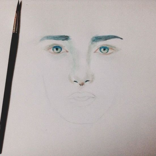 using watercolor with my art ✌️ Art ArtWork Paint Watercolor Spectrum Blue Green  Blue Eyes