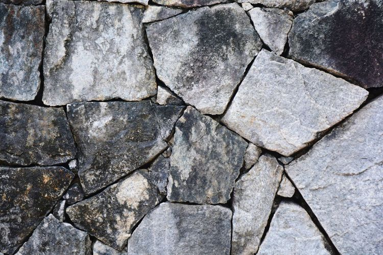 Stone wall Backgrounds Full Frame Textured  Pattern No People Cracked Close-up Outdoors Day Nature Rock Stone Wall Exterior Black Abstract