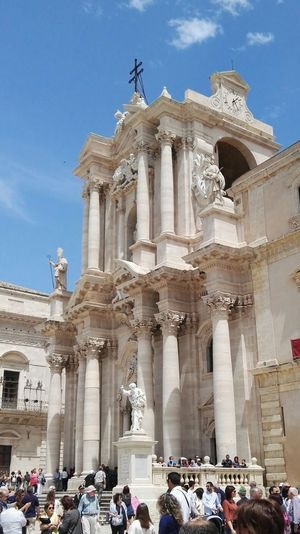 cathedral of Syracuse  Siracusa Sicily Sicily, Italy Italy Sicilia Italia Siracusa, Italy,Sicilia Ortigia City Statue Architectural Column Religion Sculpture Sky Architecture Built Structure Historic Visiting Tourist Attraction  Cathedral History Place Of Worship Catholicism Monument Church Adventures In The City