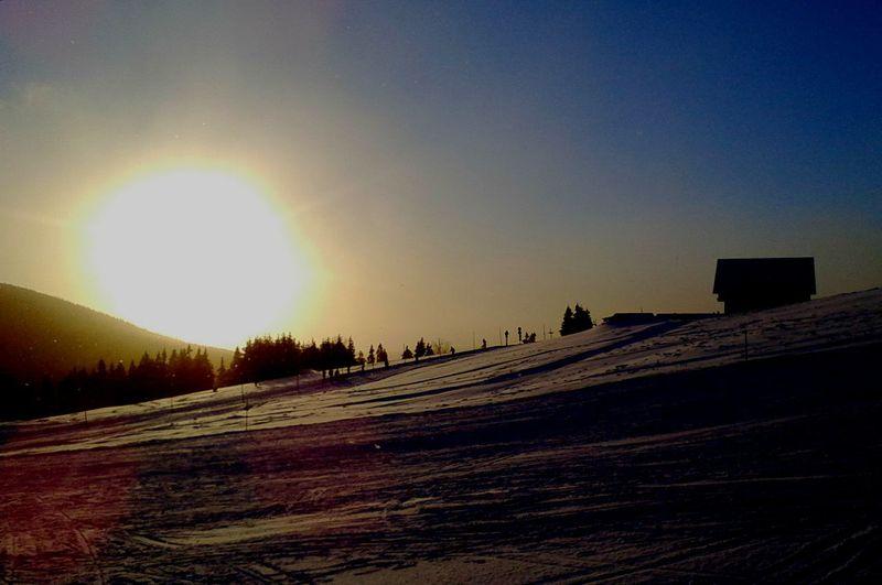 Winter Wintertime Winter_collection Winter Sun Sun_collection Sunset Taking Photos Capture The Moment Mobile Photography in Pec Pod Sněžkou Czech Republic