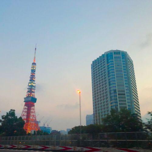 おはようございます。 東京タワー おはよう Morning 朝 Iphone8 City Sky Tall - High Tower