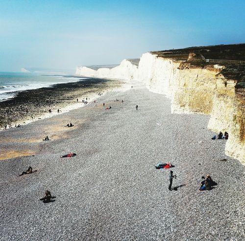 Birling Gap East Sussex Uk Sea Sun Cliffs