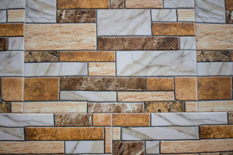 Full Frame Pattern Backgrounds No People Architecture Wall - Building Feature Tile Built Structure Day Textured  Wall Indoors  Marble Stone Material Repetition Flooring Brick Wall Brick Close-up Geometric Shape Stone Wall