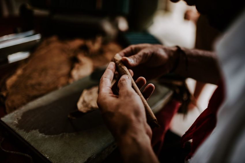The tighter you roll it, the better it getts! Tobacco Cigar EyeEm Selects Human Hand Hand Real People Human Body Part