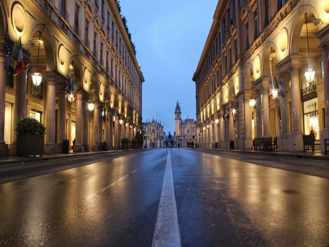 When the city is enpty, lights start to dance. City Empty Street Road Light Lighters Turin Torino Italy Italia NevermindRecords