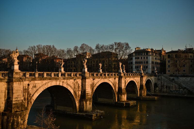 Italy, Rome, View Of Arch Bridge