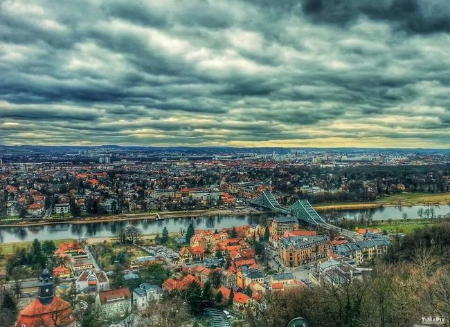HDR Dresden Clouds Blaues Wunder