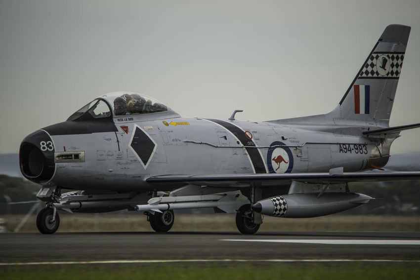 Jet Fighter CAC Sabre Missile RAAF Royal Australian Air Force SABRE Afterburner Aviation Aviationphotography Fighterjet Fighterjets Military Military Airplane Sidewinder