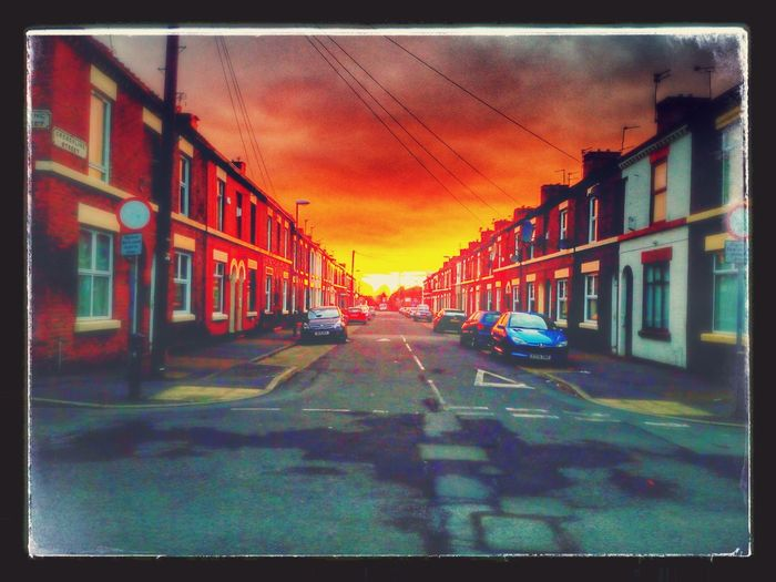 Sunset in Toxteth Liverpool on a Terraced Street Urban Photography Seeing The Beauty In Life The Architect - 2016 EyeEm Awards