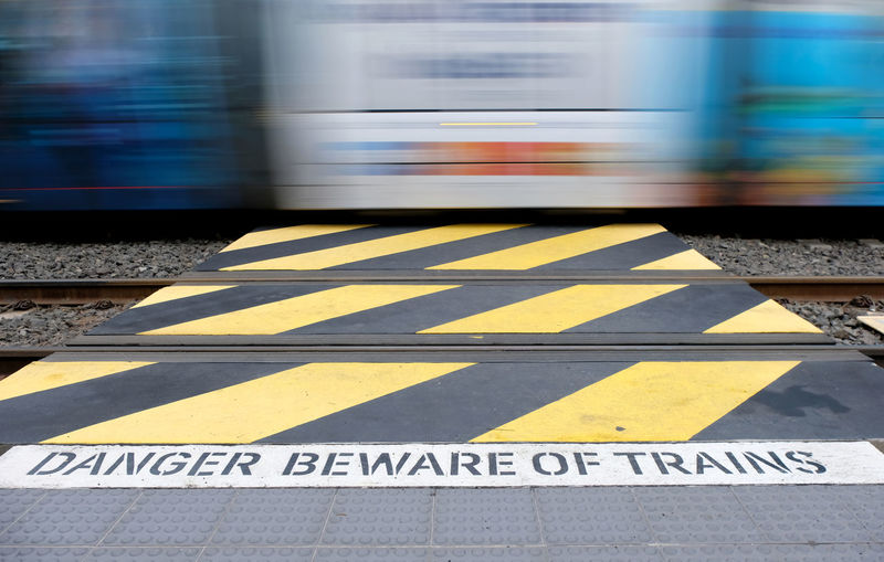 Blurred Motion Motion Speed Transportation Sign Rail Transportation Mode Of Transportation Public Transportation Communication Railroad Station Platform Railroad Track Text Train - Vehicle Track City Yellow Warning Sign Train Travel No People Outdoors Rules Danger Beware Light Rail Sydney Blue And Yellow Lines Three