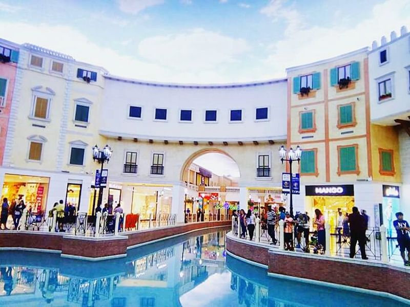 The little Venice of Qatar Travel Destinations Travel Shopping Mall Tourism Store Building Exterior Architecture City Large Group Of People People Business Finance And Industry Business Sky Adult Crowd Outdoors Adults Only Day Villagio Mall Qatar Days