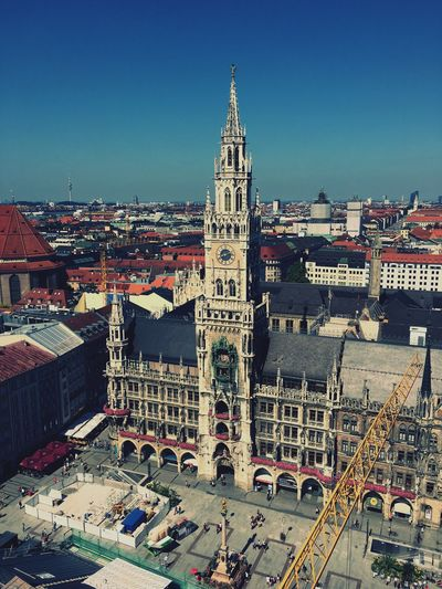 Town TOWNSCAPE Townhall Rathaus Central Centralsquare Marienplatz City Cityscape City View  Cityscapes City Life Sky Architecture Architectural Feature Architecture_collection Architectural Column Building Buildings & Sky Old Buildings Beautiful