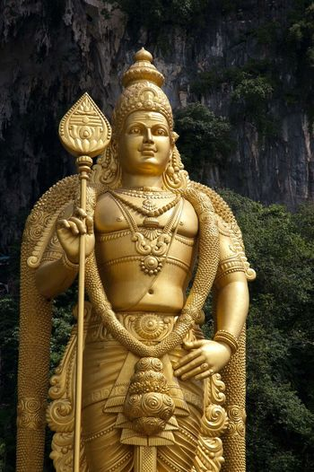Abundance Art Art And Craft Cave Entrance Cave Hol Close Up Close-up Cultures Front View Golden Holy Human Representation Indoors  Landmark Ornate Religion Sculpture Statue Tradition