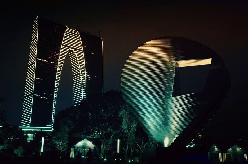 Night Illuminated Arts Culture And Entertainment Skyscraper Low Angle View No People Ferris Wheel Outdoors Architecture Sky Building Exterior Building Architecture Night Photography Colorful