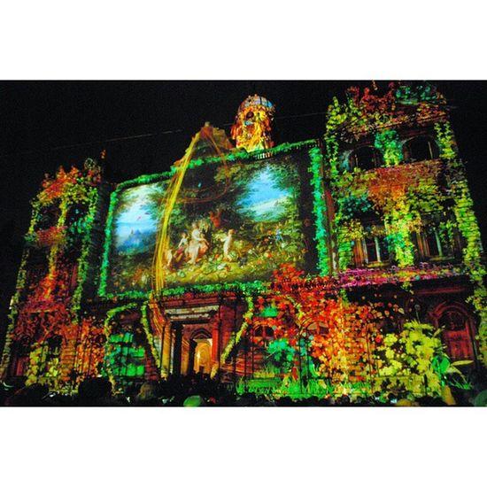 Lyon , Placedesterreaux , la façade de l'hôtel de ville. Fdl2014 Fetedeslumieres2014 8décembre2014 lights colors night winter december nikon_photography_ nikon