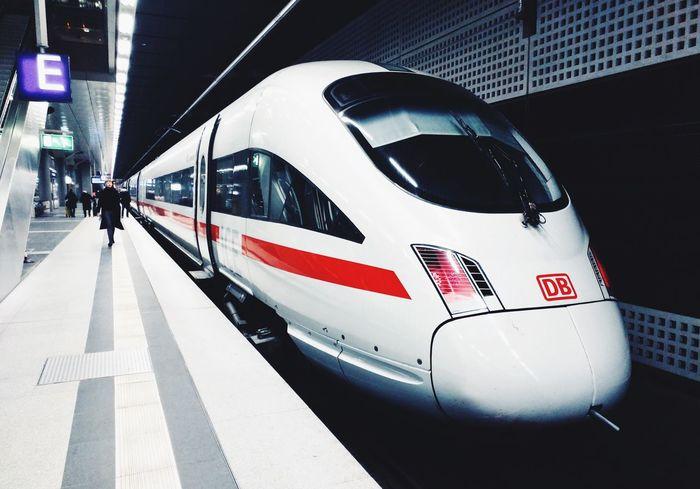 High Speed Train Ice Railroad Station Platform Public Transportation Railroad Station Mode Of Transport Transportation Train Berlin Hauptbahnhof Berlin Deutsche Bahn Travel