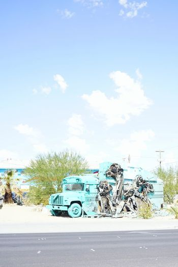 Downtown Vegas Art And Craft Outdoors Mode Of Transport Transportation