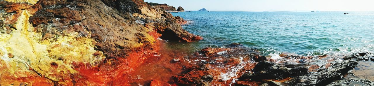 Sea Water Beach Day Outdoors Nature Panoramic No People Beauty In Nature Rock - Object Elba Island  Elba See Elba Topinetti Italy Colors Color Explosion Colors Of Nature WOW Surprise The Week On EyeEm